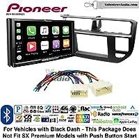 Volunteer Audio Pioneer AVH-W4400NEX Double Din Radio Install Kit with Wireless Apple CarPlay, Android Auto, Bluetooth Fits 2012-2014 Kia Rio (Black)