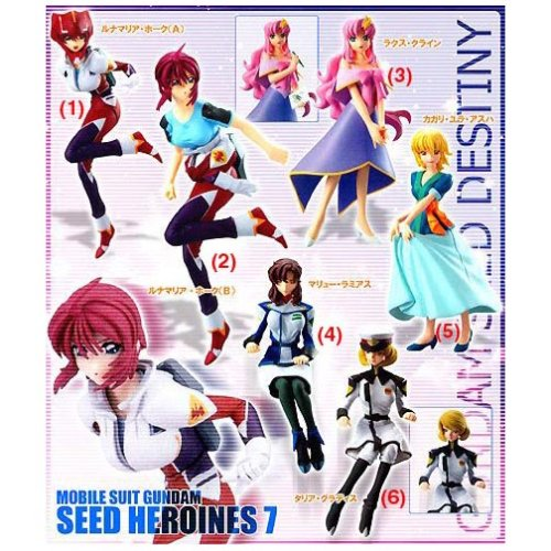 Gundam Seed Destiny Heroines #7 Trading Figures (Set of 6) (japan import)
