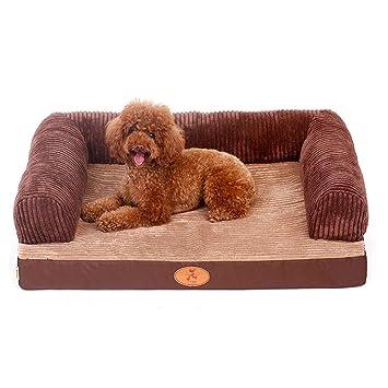 GWM Cama para Mascotas, Perrera Grande para Perros Casa para Gatos Desmontable y Lavable Nido