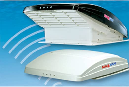 Maxxair 00-06200K MaxxFan Ventillation Fan with Smoke Lid and Manual Opening Keypad Control