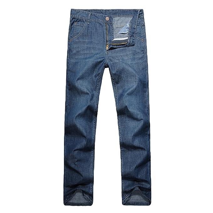 NiSeng Hombre Loose Jeans Casual Baggy Pantalones Moda ...