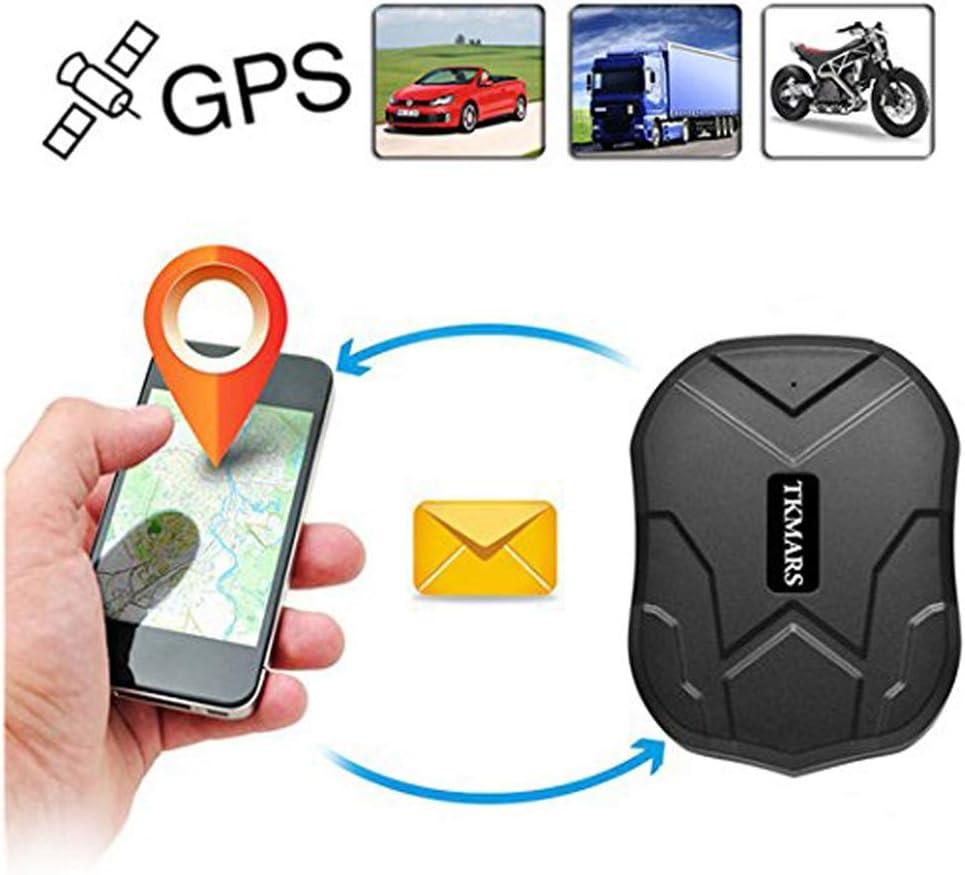 Hangang GPS Tracker, Coche Carro Vehiculo GPS Localizador de Seguimiento en Tiempo Real de 150 dias de Tiempo en Espera con Iman Fuerte Diebstahlschutzl en un Global GPS Tracker con Free App (tk905b)