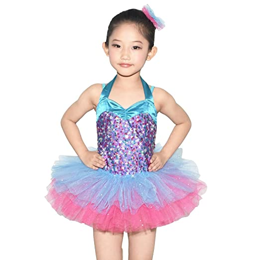 cd7e4e5fb678 Amazon.com  MiDee Girl s Lovely Ballet Tutu Dance Costume Halter ...