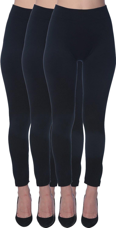 c22c0fc4e8c55a Active Club 6 Pack Women's Fleece Lined Soft, High Waist, Slimming, Winter  Warm Leggings-Plus Size Leggings at Amazon Women's Clothing store: