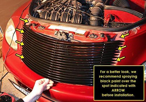 APS Compatible with 2000-2005 Chrysler PT Cruiser Black Billet Grille Grill Insert S18-H10358R