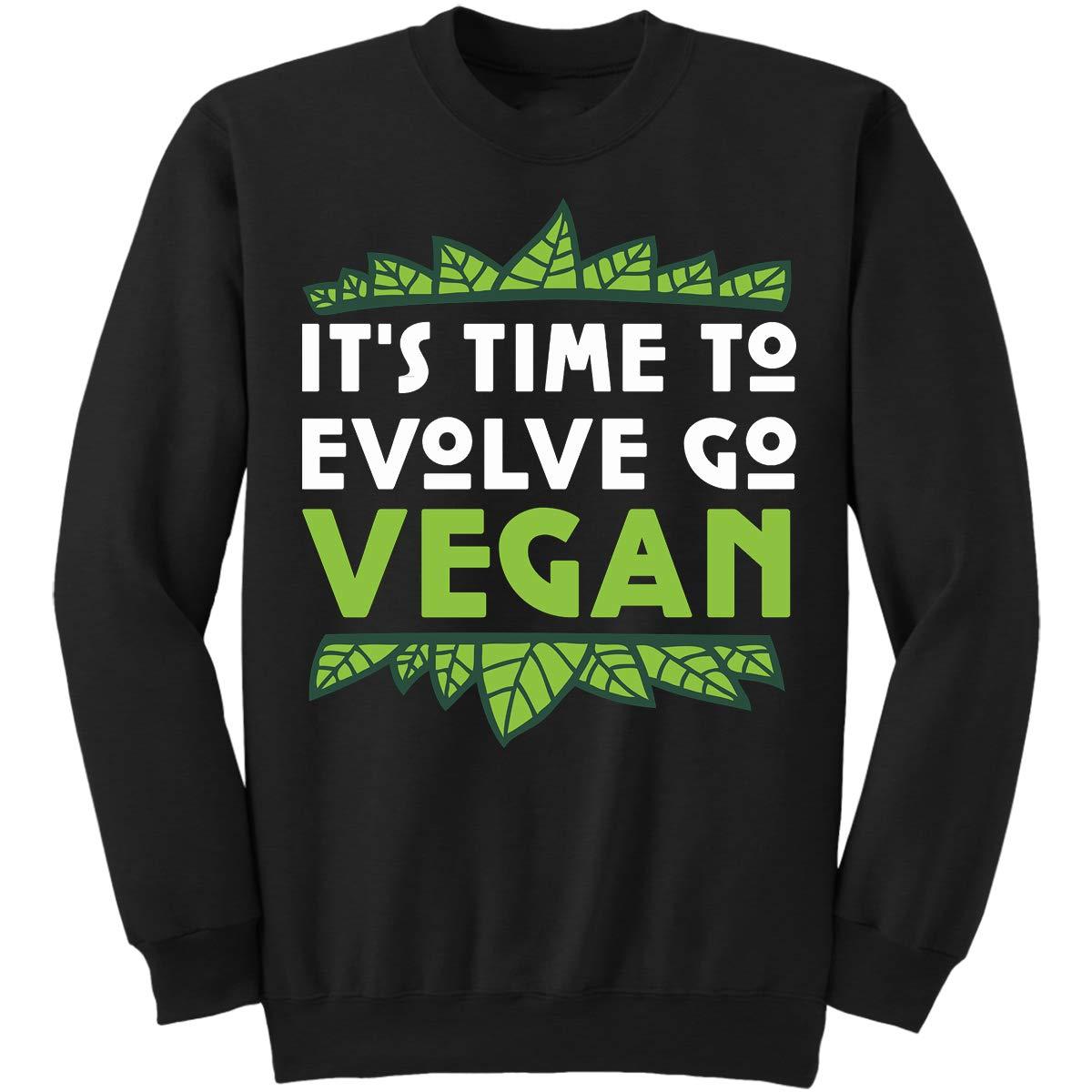 Its Time to Evolve Go Vegan Funny Gi Sweatshirt