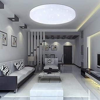 Vingo 16w Led Deckenbeleuchtung Rund Deckenlampe Starlight Effekt