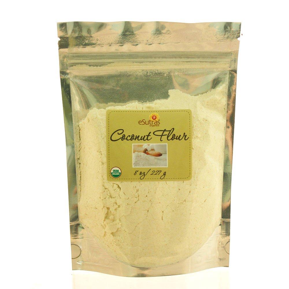 Esutras Organics Coconut Flour, 8 Ounce