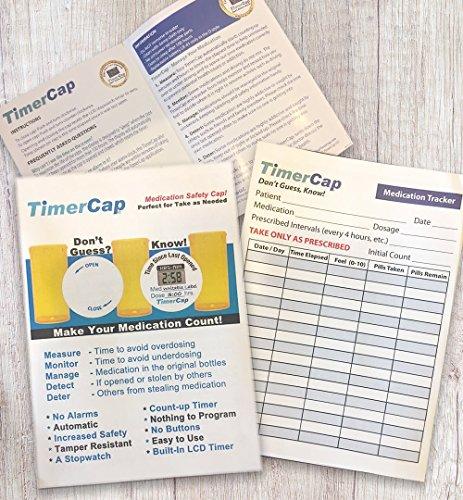 Timercap Stopwatch Cap Amp Pill Bottle Organizer 2 Pack