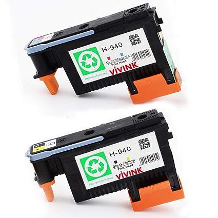 VIVINK - Juego de 2 Cabezales de impresión compatibles para HP ...
