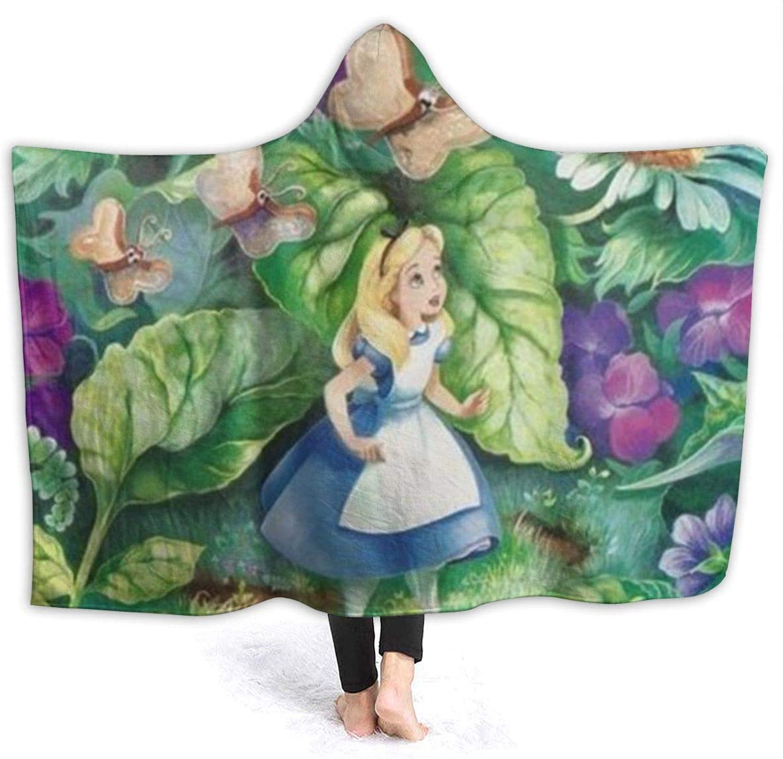 Alice in Wonderland Hooded Blanket for Home