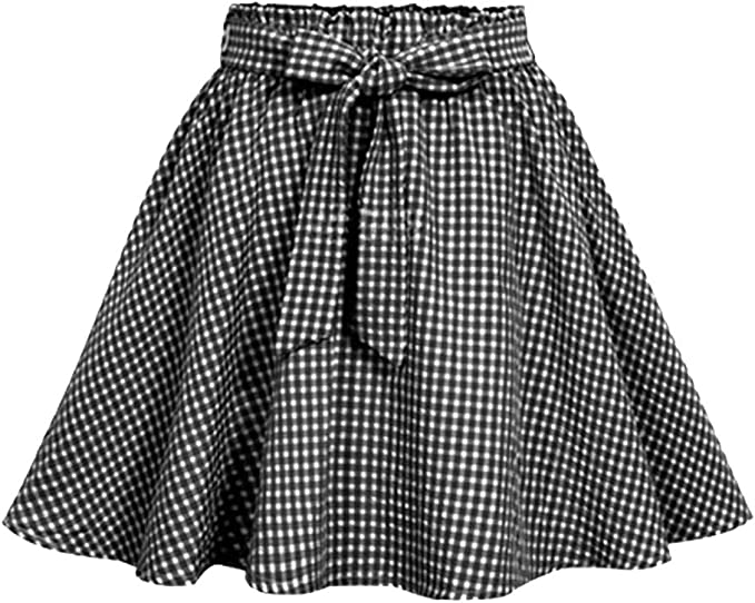 Mujer Corto Falda - Plisada A-Linear Falda Moda Tartán Impresión ...