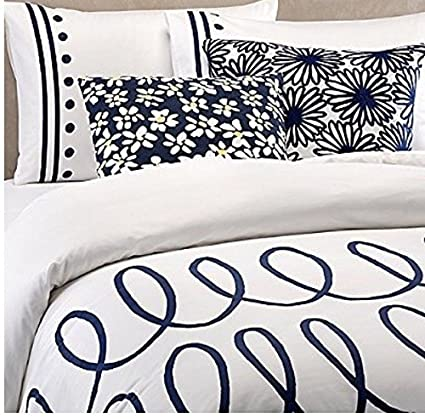 Amazon Com Kate Spade Charlotte Street 2 Piece Comforter Set Navy