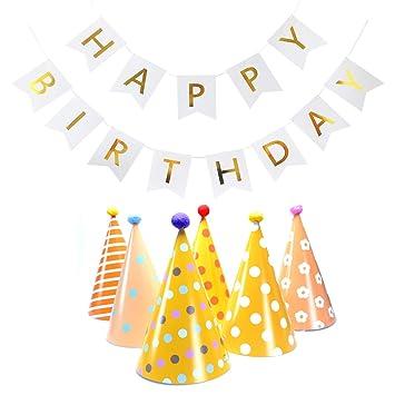 VerteLife Decoración para Fiestas de Cumpleaños, 6 Piezas ...