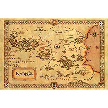 Map Of Narnia Amazon.com: MCPosters Narnia World Map GLOSSY FINISH Movie Poster