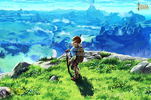 [CGC Huge Poster GLOSSY FINISH - The Legend of Zelda Breath of the Wild Nintendo Switch Wii U - EXT691 (16