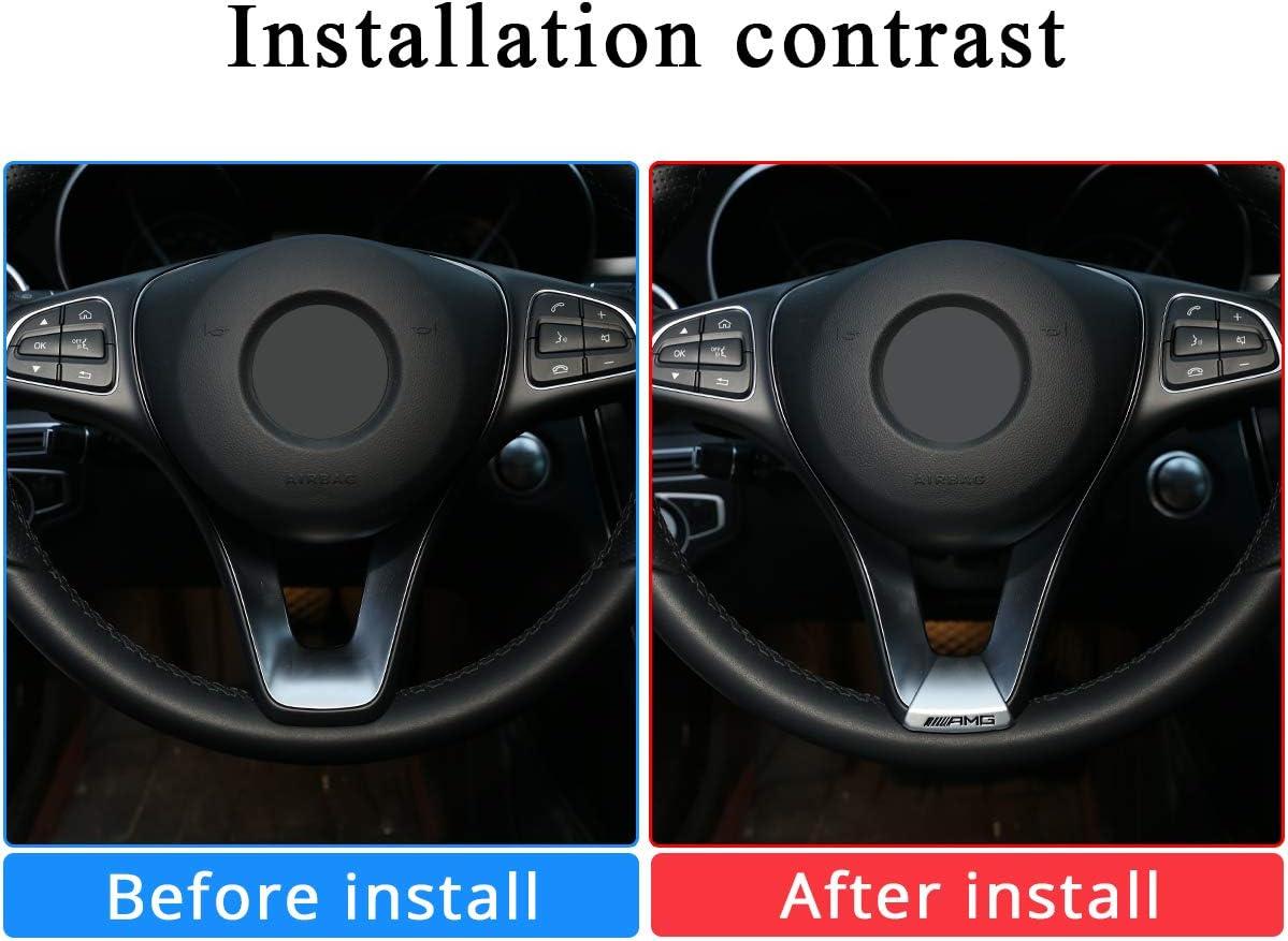 ML GLC,GLK Class.(45mm) E GLE GL GLA CLA S XIDE Steering Wheel Emblem Unique Bling Crystal Badge Emblem Overlay Decal Decoration Cover Sticker Trim for Mercedes Benz A B,C