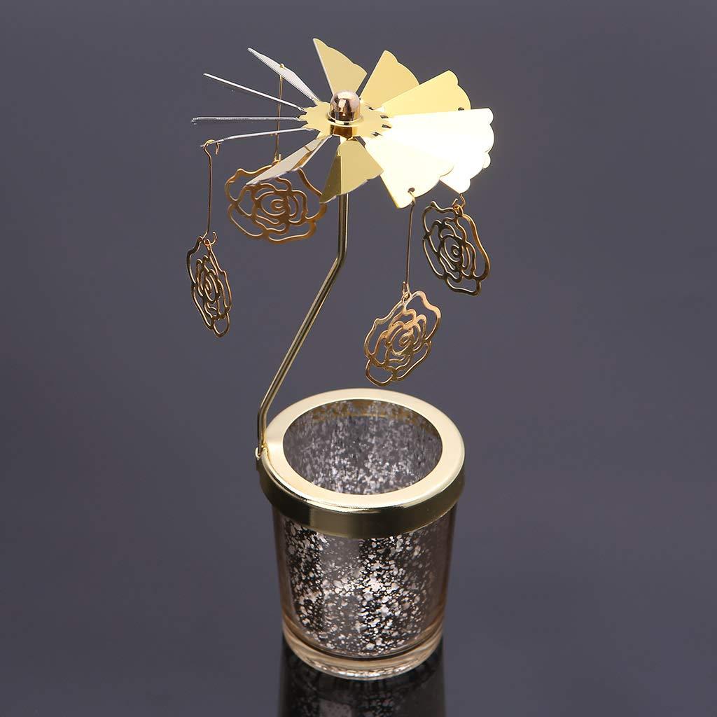FKY girante Spinning giostra portacandele Oro