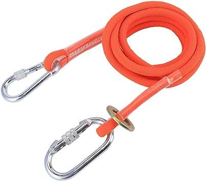 Vbest life Cinturón de Seguridad para Exteriores de 3M con Hebilla pequeña, Cuerda de Seguridad Personal anticaídas para Escalada y Trabajo aéreo
