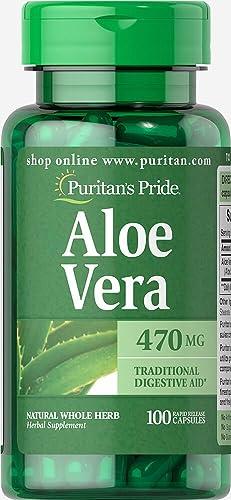 Puritan s Pride Aloe Vera 470 mg-100 Capsules