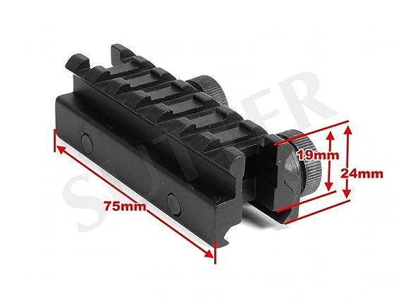 MCTECH Adaptador 11mm Riel Dovetail Mira Telesc/ópica Montura Weaver Picatinny Prolongaci/ón Elevaci/ón