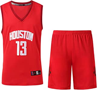 MAZO Summer Basketball Uniform Rocket Harden No. 13 Embroidery Training Suit Competition Suit 2 Sets