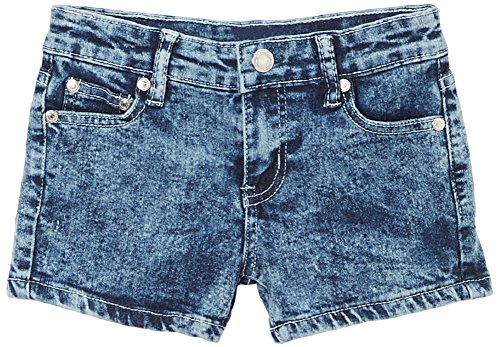 (ToBeInStyle Girl's Denim Mini Shorts - Acid Wash Pattern -)
