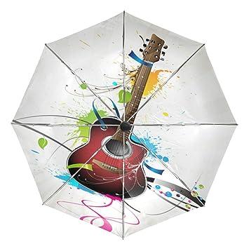 Wamika - Paraguas automático para Guitarra (6 Cuerdas, Resistente ...
