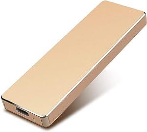 1TB External Hard Drive Portable Hard Drive External HDD Slim USB 3.1 Hard Drive Compatible for Mac Laptop and PC (1TB, Gold)