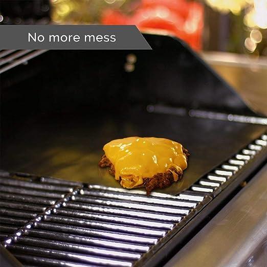 Ulable termostato barbacoa antiadherente parrilla para hornear alfombrilla para microondas horno exterior barbacoa 1 pieza: Amazon.es: Hogar