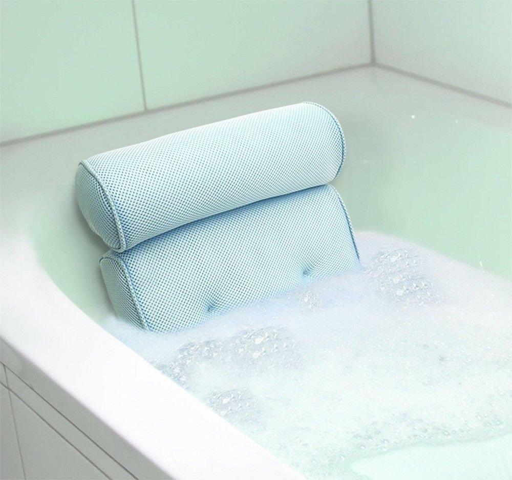 New MTN-G Home Spa Bath Pillow Bathtub Hot Tub Neck Back Rest Travel Foam Pillow Sauna