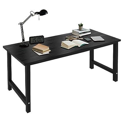 Charavector Mesa de escritorio grande para ordenador, moderna ...