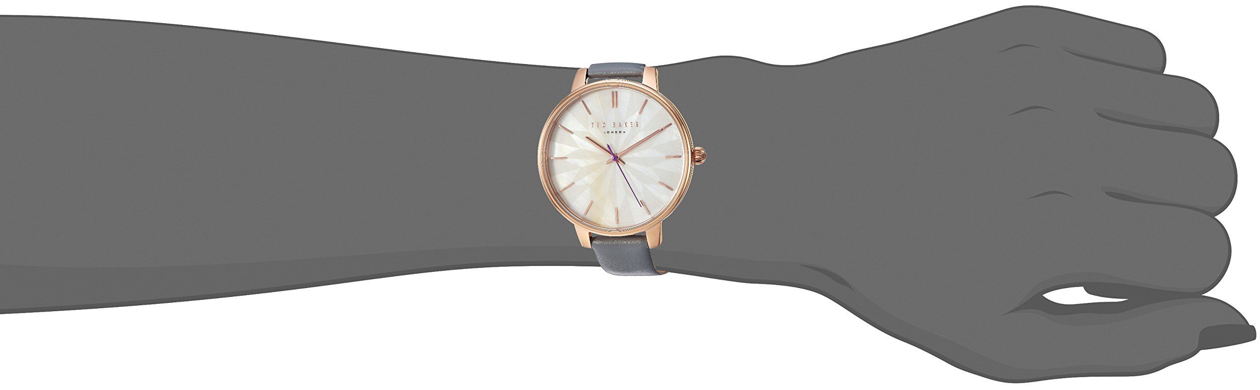 Ted Baker Women's 'KATE' Quartz Stainless Steel and Leather Casual Watch, Color:Grey (Model: TE50272005) by Ted Baker (Image #2)