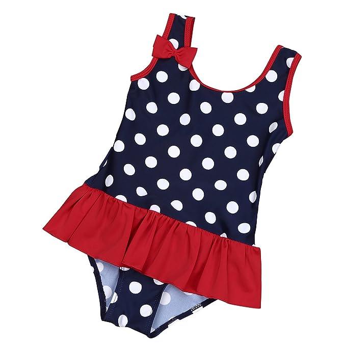 der Verkauf von Schuhen besser beste website iEFiEL Baby - Mädchen Badeanzug Einteiler Bikini UV-Schutz Bademoden  All-Over gepunktet 62 68 74 80 86 92 98
