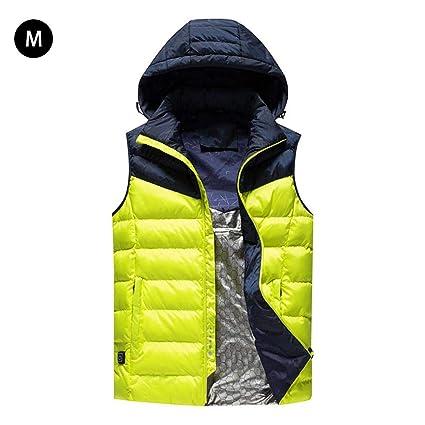 Per Chalecos Calefactables para Hombres Chaquetas Térmicas Invierno con Temperatura Ajustable de Tres Grados
