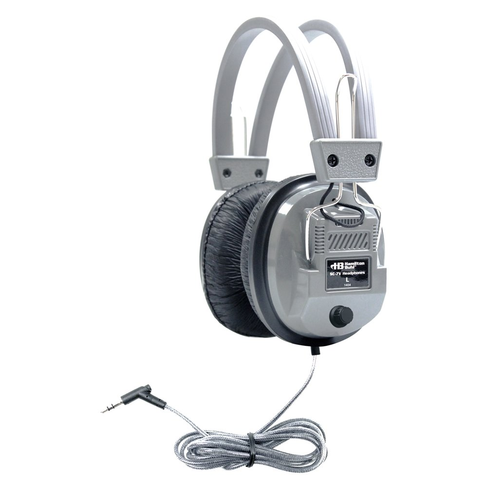 HamiltonBuhl SchoolMate Deluxe Stereo Headphone with 3.5 mm Plug and Volume Control