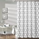 dark grey curtains amazon Lush Decor Bellagio Shower Curtain, 72