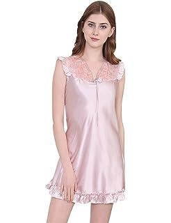9da9e903be82e Menschwear Damen Nachtwäsche Schlafhemd Satin Nachtwäsche Chemises  Nightshirts Slip Dress