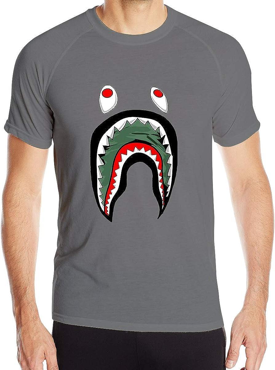 Big Mouth Shark Ba-Pe Man Quick-Drying T-Shirt Loose-Fit T-Shirt