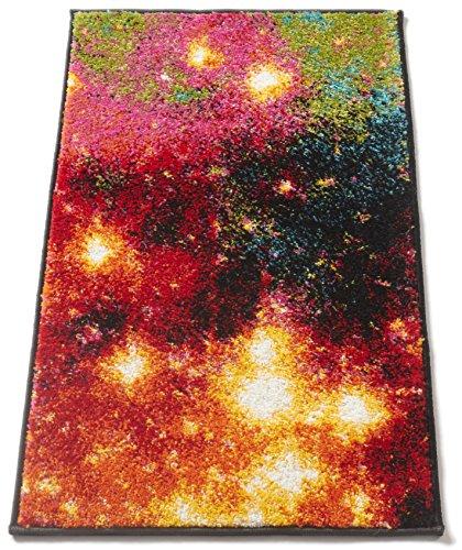 Galaxy Lights Multi Red Yellow Orange Stars Lines Modern Geometric Abstract 2x3 (20