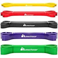 Meteor Essential Power Bands, Resistance Loop Set, Natural Latex Fitness Bands for Workout, Yoga, Weightlifting…