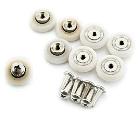 8 Sets 19mm Stainless Steel Shower Door Wheels Rollers Runners by Micro Trader  sc 1 st  Amazon UK : door wheels - pezcame.com