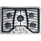 """GE PGP959SETSS Profile 30"""" Stainless Steel Gas Sealed Burner Cooktop"""