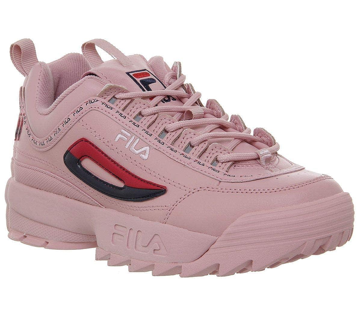 Fila Disruptor II Premium Repeat Rosa Mujer Zapatillas: Amazon.es: Zapatos y complementos