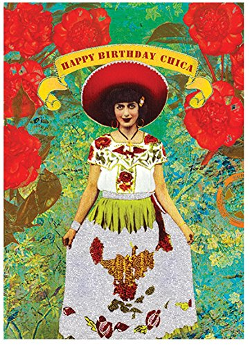Papaya Inc Happy Birthday Chica Card -