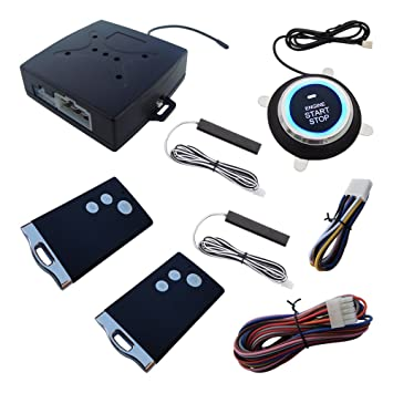 Rolling Code PKE Car Alarm Passive Keyless Entry With Remote Engine ...