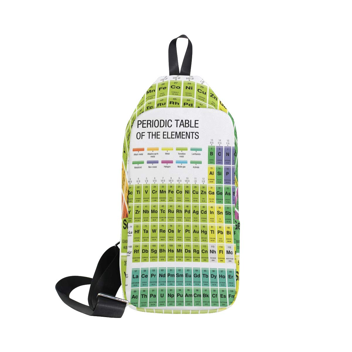 Unisex Messenger Bag Periodic Table Of Element Shoulder Chest Cross Body Backpack Bag