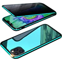 Privacy Screen Protection Case for iPhone 11/Pro/Pro Max, Anti Peeping Magnetic Adsorption Double-Sided Privacy Screen Protector Back Glass Cases for Apple iPhone 11 Series