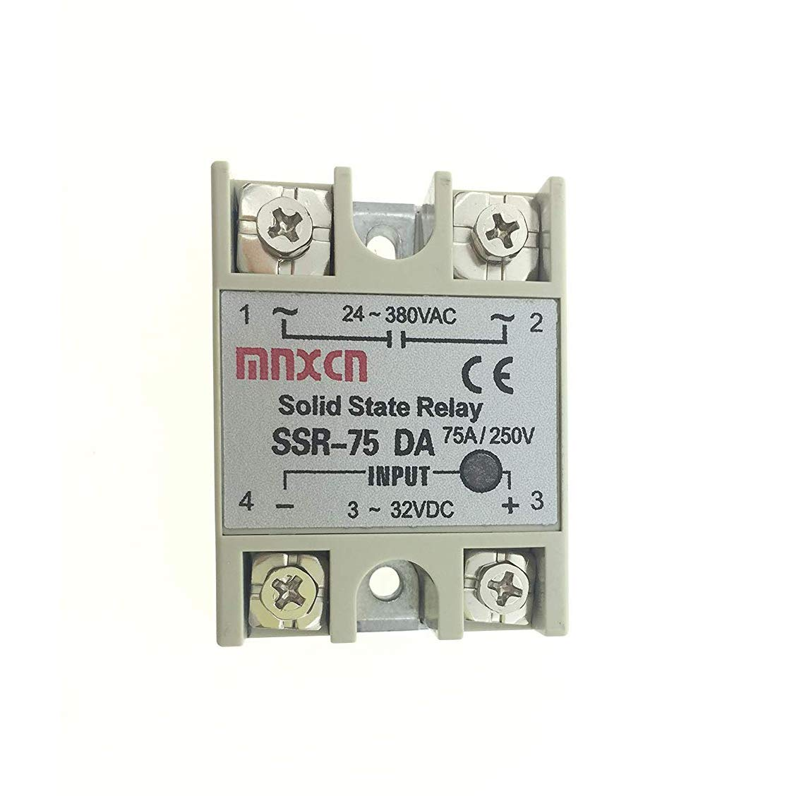 YXQ SSR-40AA Solid State Relay AC 80-250V Input AC 24-380V Output Small AC Exchange Type Electronic Controller