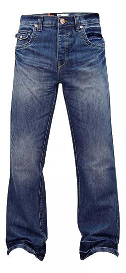 77985096e1d Enzo Mens Apt Designer Bootcut Flare Jeans A 42 Dark Wash Faded ...